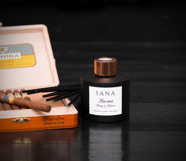 parfum de camera premium cu miere si tabac 100ML