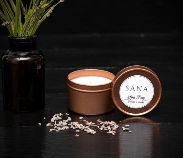 lumanare parfumata premium spa day in recipient metalic 10 cl